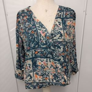 Maeve Anthropologie Floral Blouse SZ XL